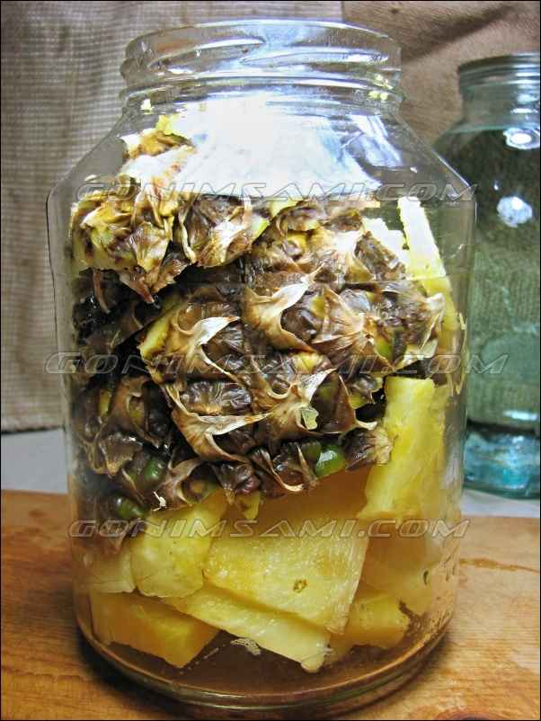 Самогон на ананасе. Домашняя настойка.