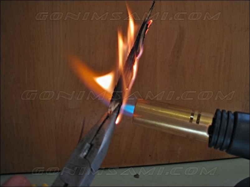 обжиг дуба на горелке