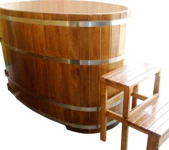 Купель дубовая для бани? из колотого дуба. Купить с доставкой Украине
