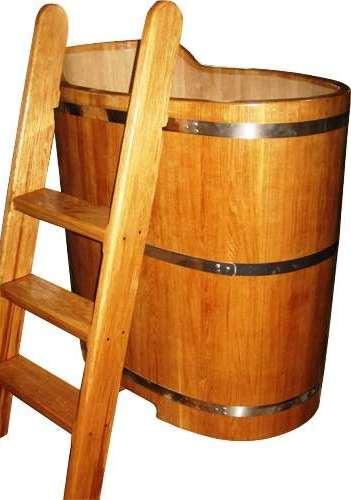 Овальная купель из дуба. Для бани, сауны, дачи, офиса. Продажа с доставкой по Украине.